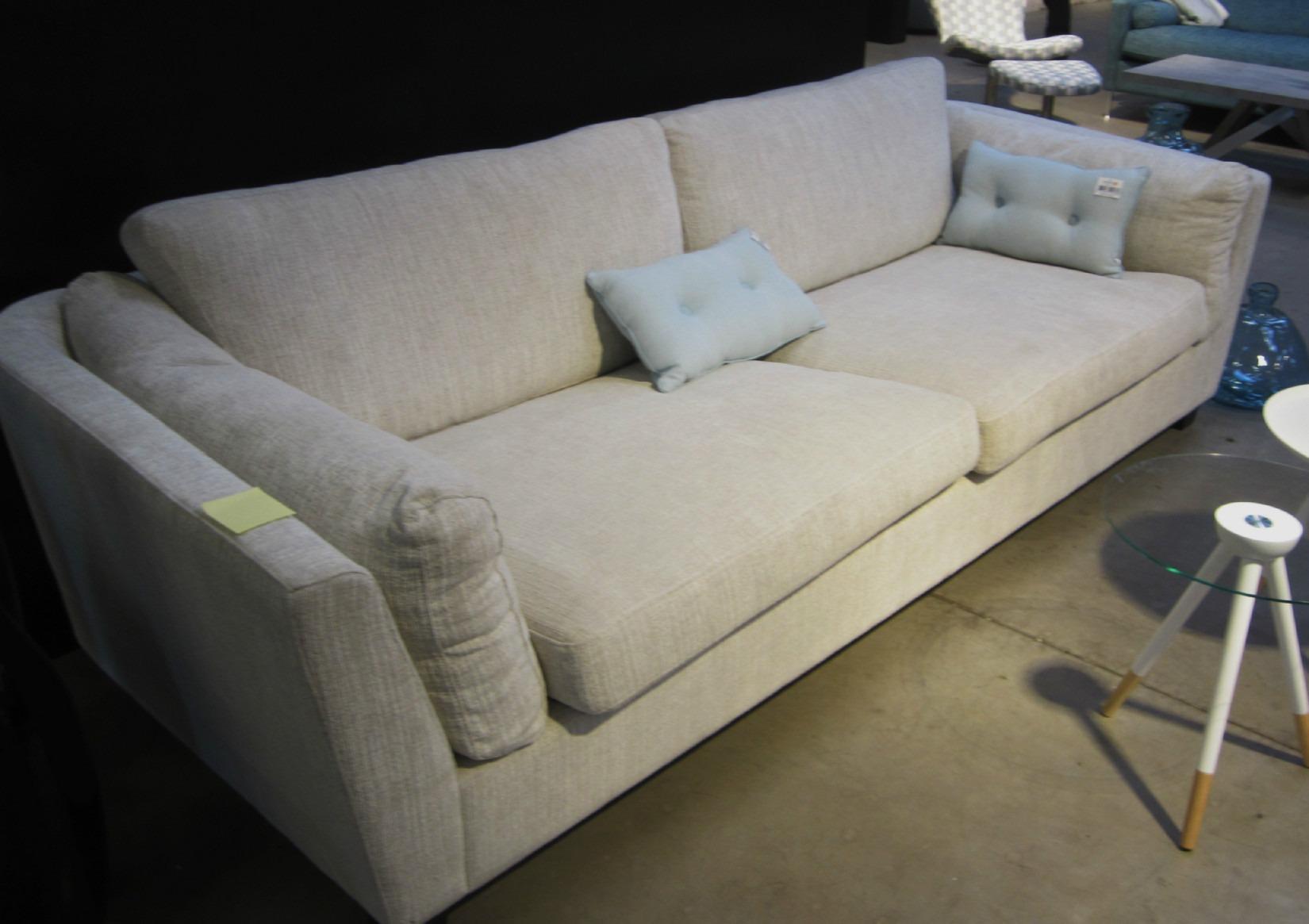 Sofa, 3 pers. grå stof