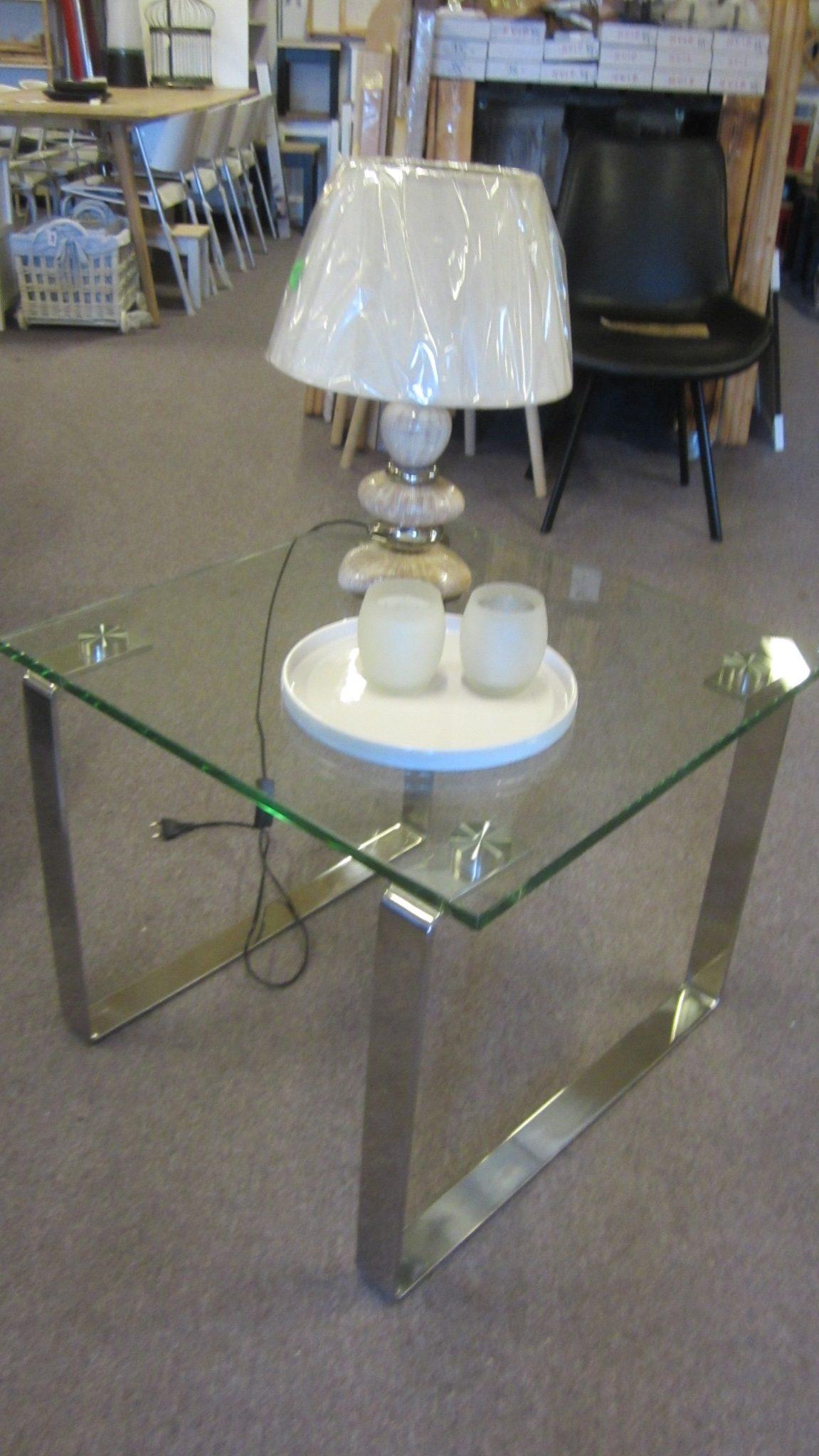 Lampebord i glas